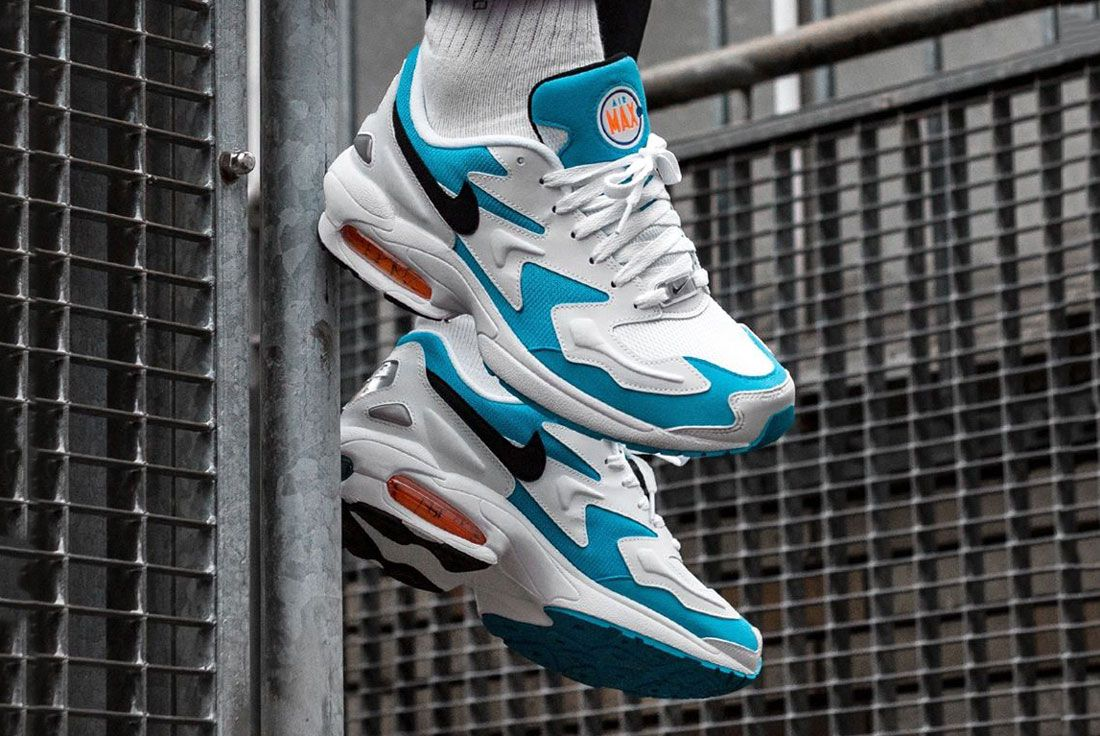 Nike Air Max2 Light Blue Lagoon Asphalt Gold