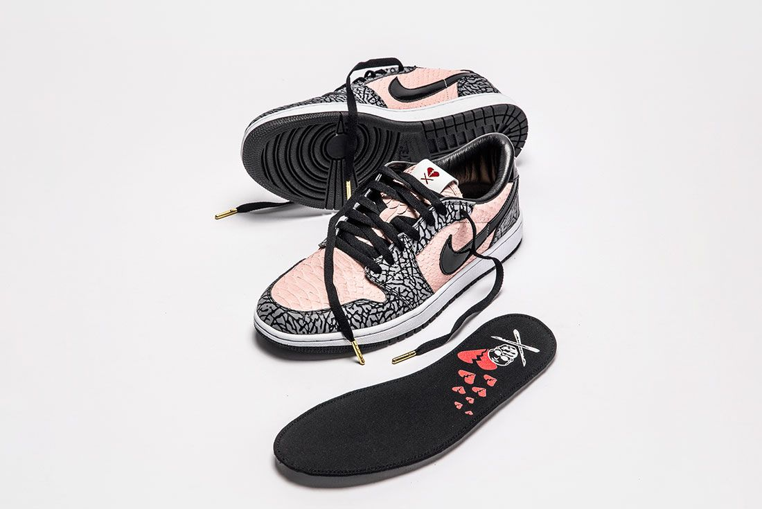 Shoe Surgeon Aj1 Low Sb Heart Breaker Top Side Insole