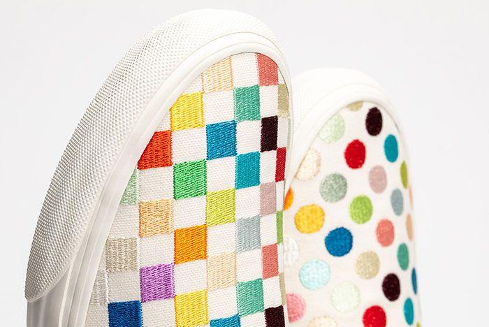 Damien Hirst Vans Vault Classic Slip On Dots Toe