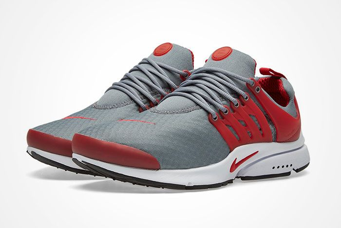 Nike Air Presto Cool Grey Gym Red Feature