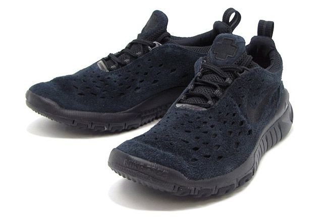 Nike Free Trail Black Suede Front 1