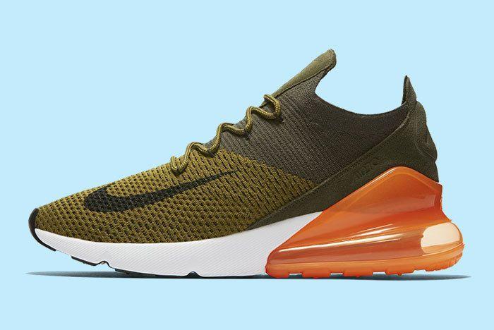 Nike Air Max 270 Green Orange 1
