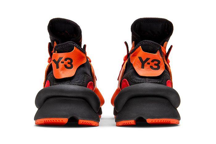 Adidas Y 3 Kaiwa Orange Black Heel