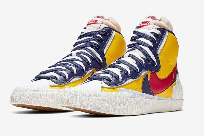 Sacai Nike Blazer Wafle Front Angle 14