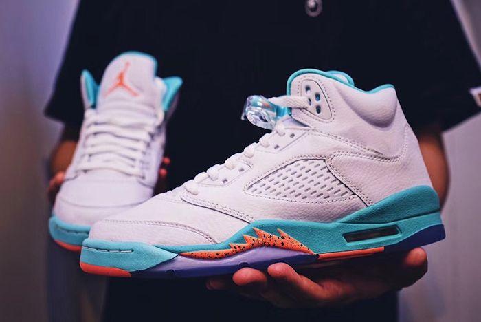 Air Jordan 5 Miami Light Aqua Release Date Sneaker Freaker