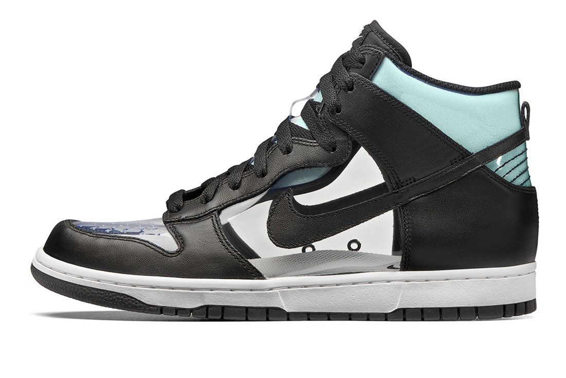 Comme des Garcons Nike Dunk High Clear