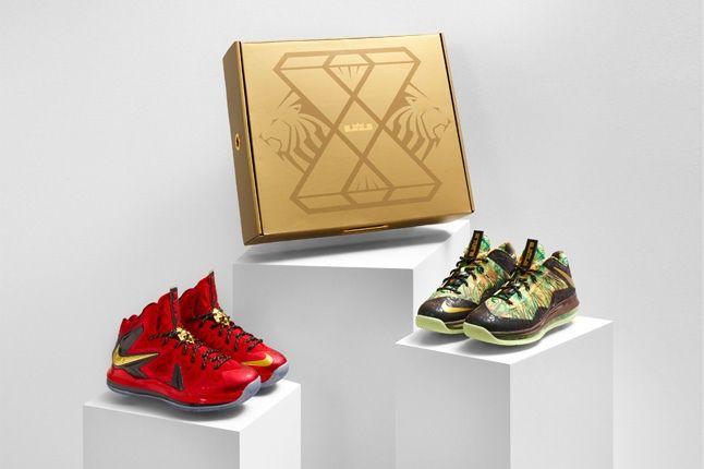 Nike Lebron X Backtoback Pack Tropical Group Shot 1