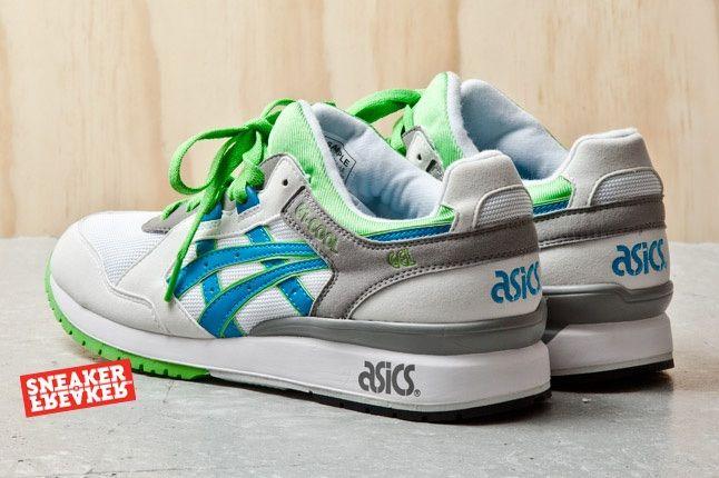 Asics Gt Cool Green White Blue 4 Heel Quarter 1