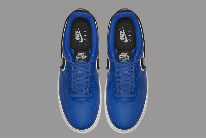 Nike Air Force 1 Low 3D Chenille Swoosh Blue 4