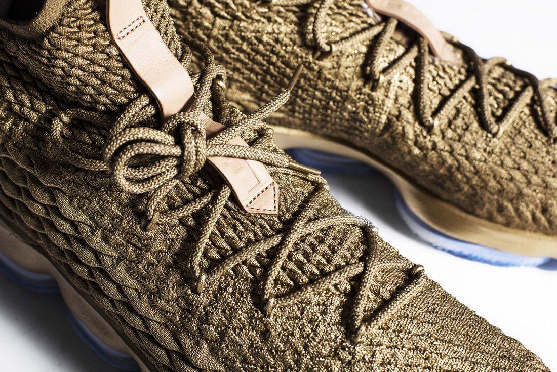 Nike Lebron 15 Gold Custom 2