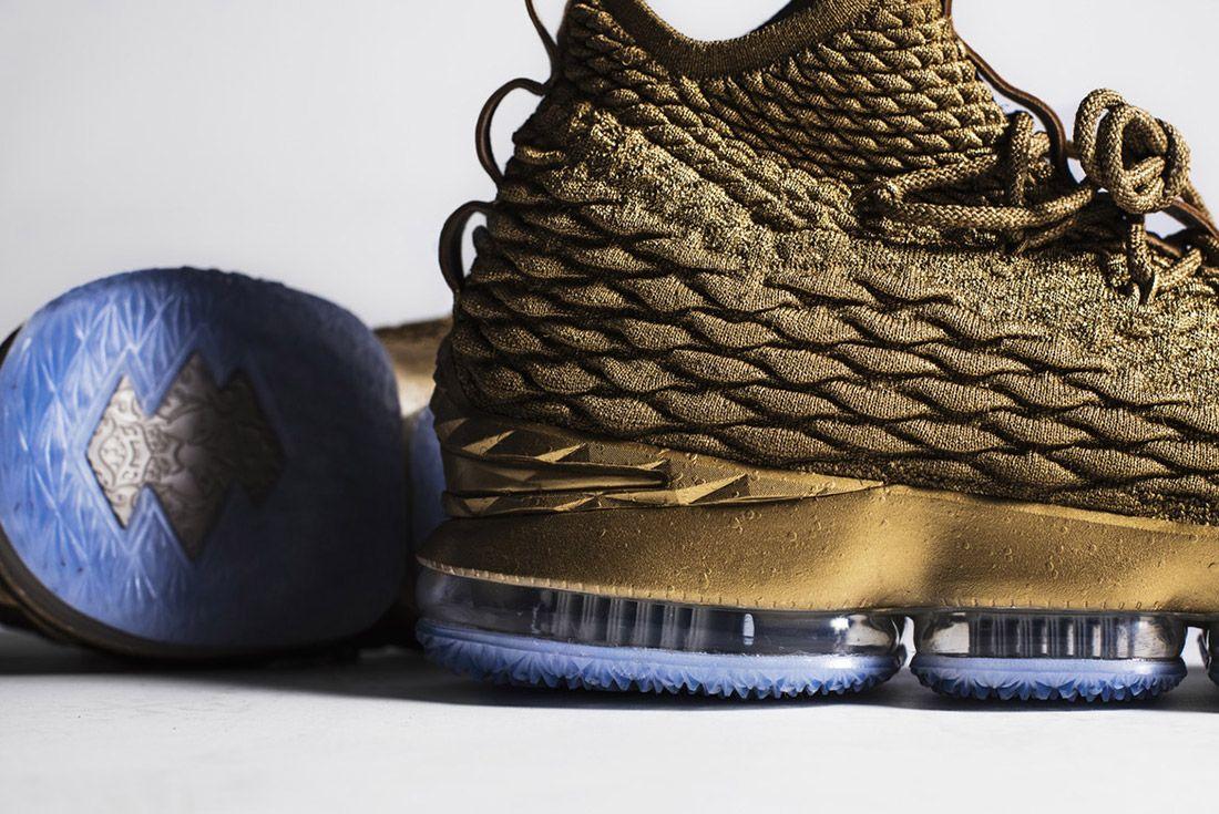 Nike Lebron 15 Gold Custom 3
