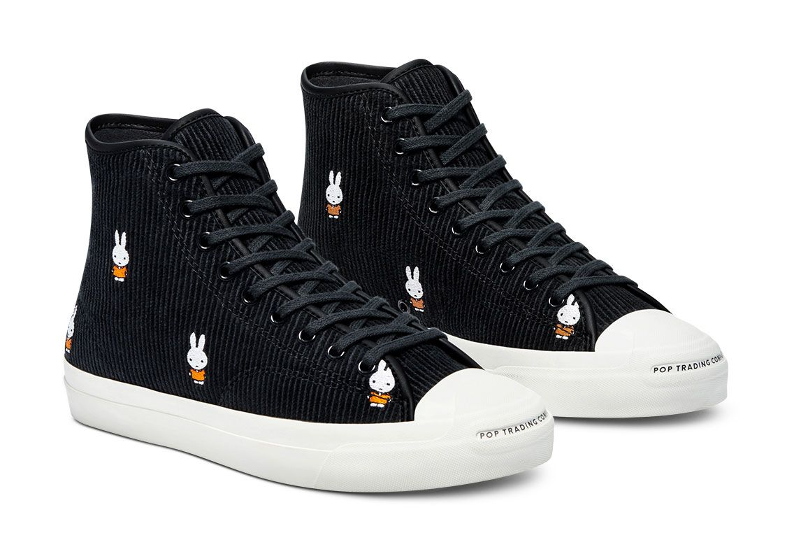 Miffy x Pop Trading Company x Converse Jack Purcell