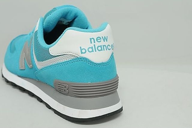 New Balance 574 Turquoise Silver White 7