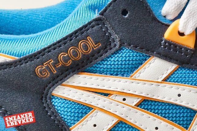 Asics Gt Cool Blue Orange Navy Midfoot Detail 1