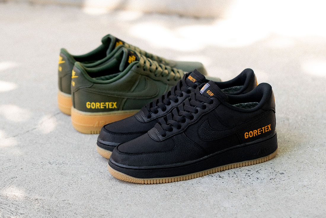 Nike Air Force 1 Gore Tex Black Drab Olive Hero Shot 1