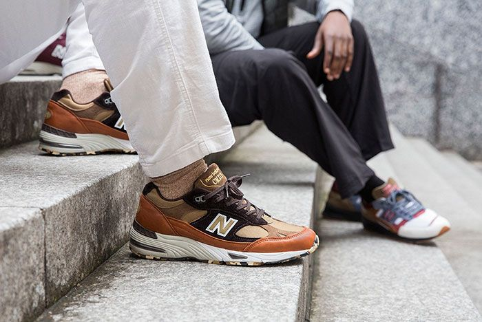 New Balance Made In Uk Season 2 991 Brown On Foot Lateral