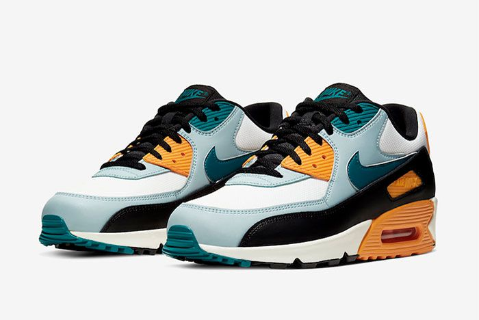 Nike Air Max 90 Teal Yellow Quarter