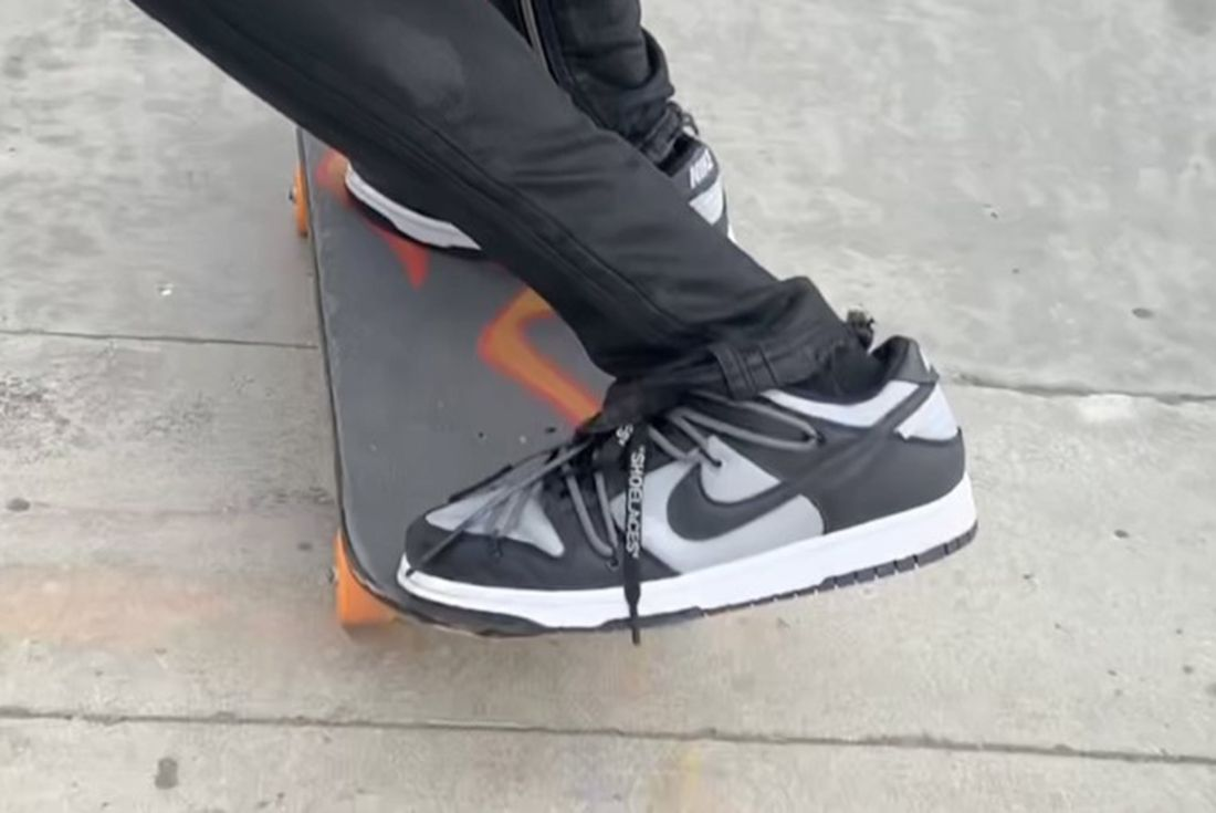 Unreleased Off-White x Nike Dunk 'Black/Gray' leak
