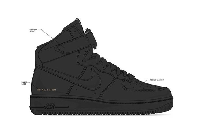 Alyx Nike Air Force 1 Teaser 1