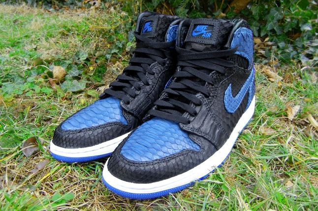 Jfb Customs Snakeskin Aj1 Royal Toe Pair 1