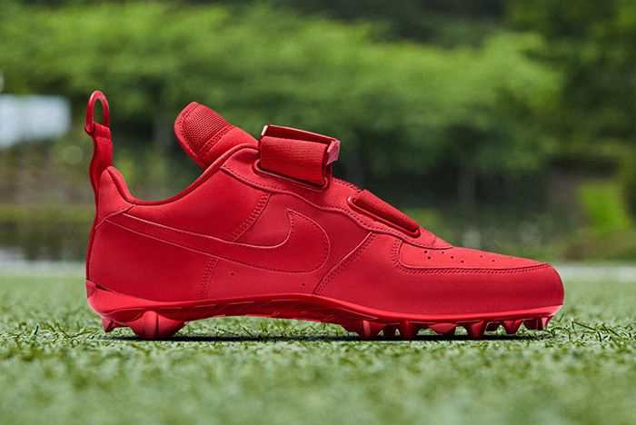 Nike Air Force 1 Utility Obj Cleat Red 2