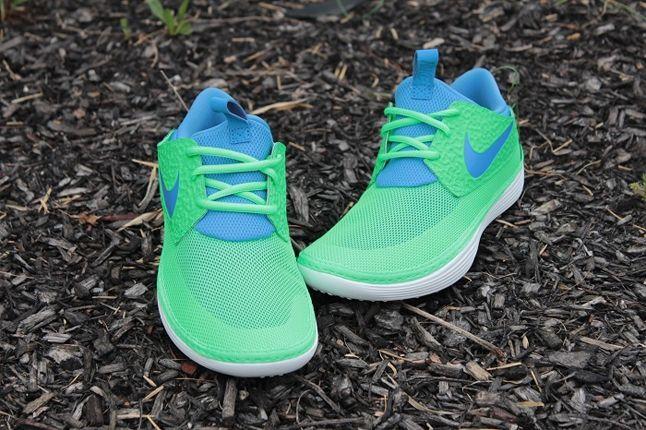 Nike Solarsoft Mocassin Lime Blue Toe Profile 1