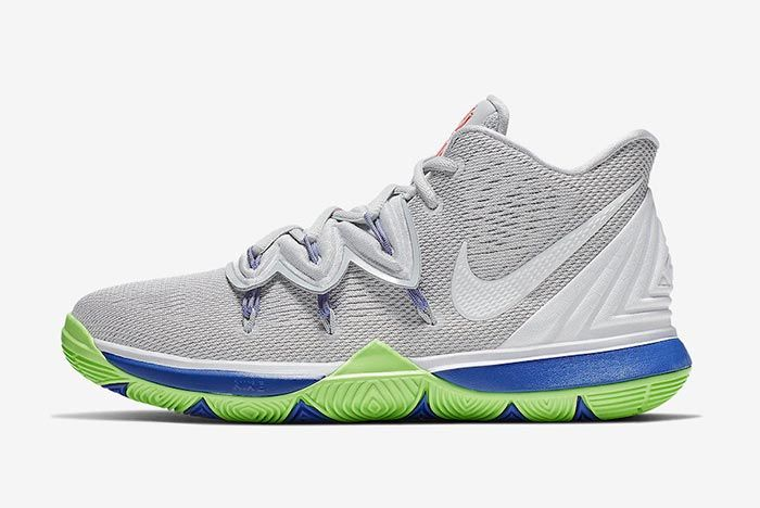 Nike Kyrie 5 Wolf Grey Lime Blast Lateral