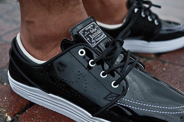 85 Ive2 X Nike Sb Linar Stefan Janoski Black White 3