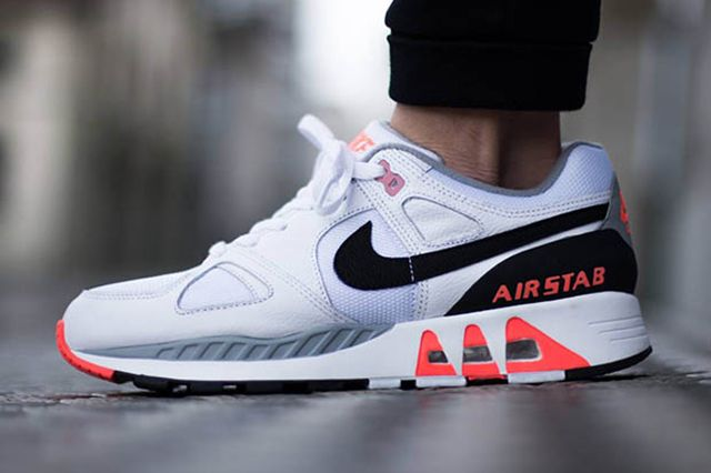 Nike Air Stab White Black Hot Lava