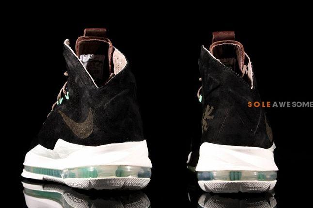 Nike Lebron X 10 Ext Black Suede Qs Heels 1