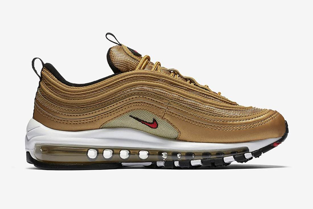 nike air max 97 black with gold tick