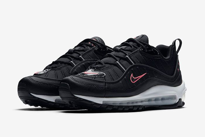 Nike Air Max 98 Black Pink Cn0140 001 Release Date 4 Side Pair