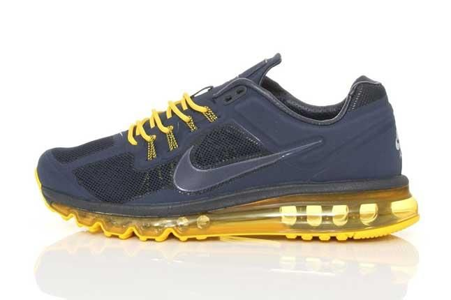 Nike Air Max 2013 Amthracite Yellow Side Profile 1