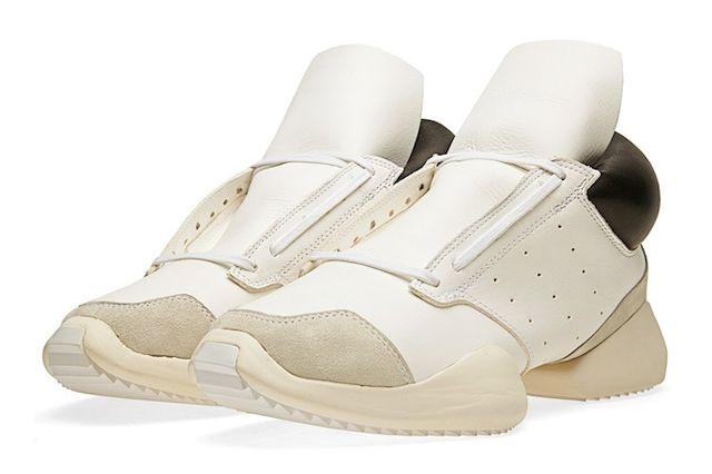 Rick Owens Adidas Runner Black White Angle