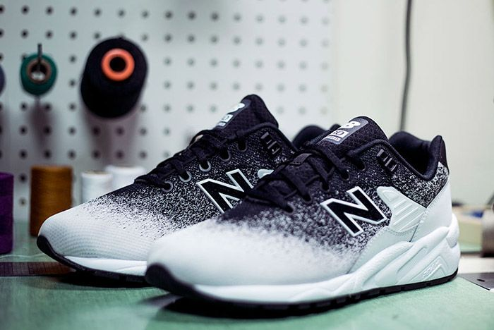 New Balance Mrt 580 Jr Reengineered Knit Black White 2