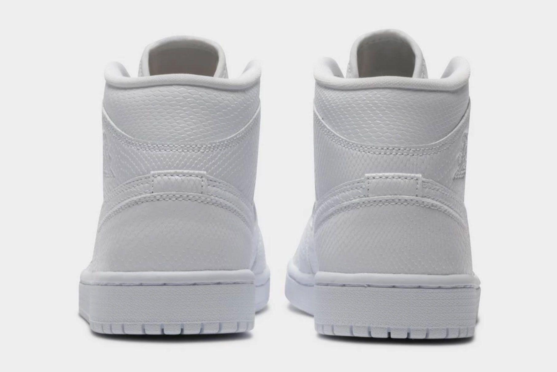 Air Jordan 1 Mid (White Snakeskin)