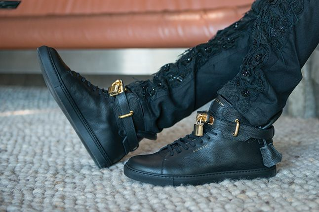 Buscemi Padlock Sneaker Black