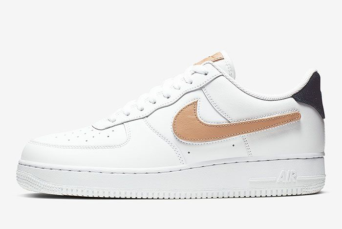 Nike Air Force 1 Removable Swoosh Pack White Left 2