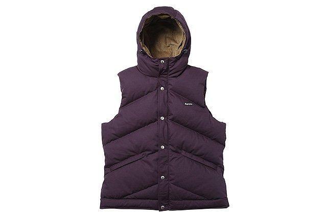 Hooded Down Vest Purple 1
