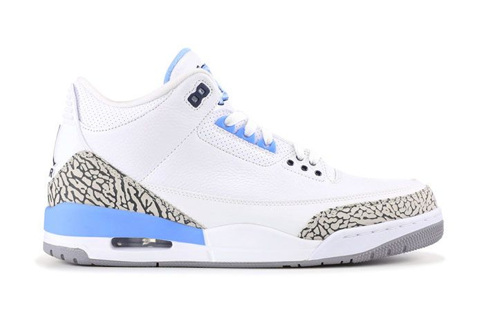 Air Jordan 3 Unc Ct8532 104 2020 Lateral