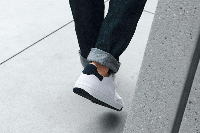 Adidas Rod Laver Primeknit Pk White On Feet 1