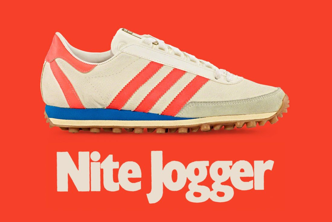 1976 Adidas Nite Jogger On Orange