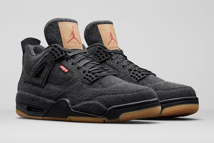 Levis Air Jordan 4 Black Denim 1