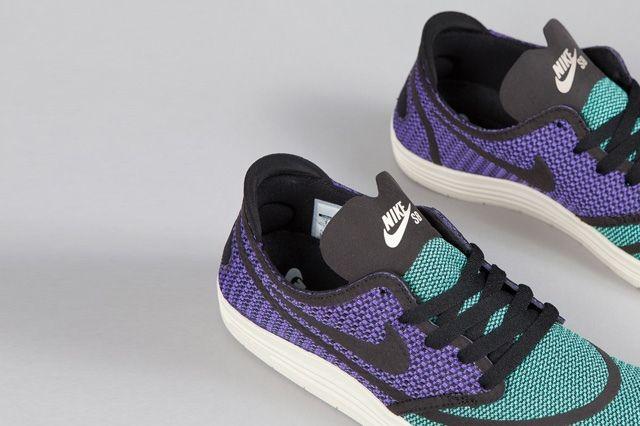 Nike Sb Lunar One Shot Woven Mint Hyper Purple 3