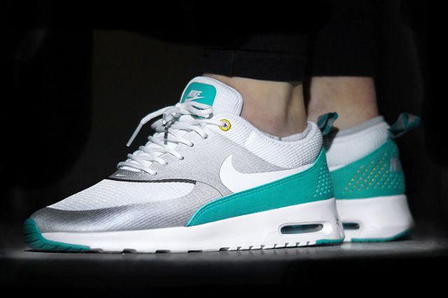 Nike Air Max Thea Metallic Silver Tribe Green 1