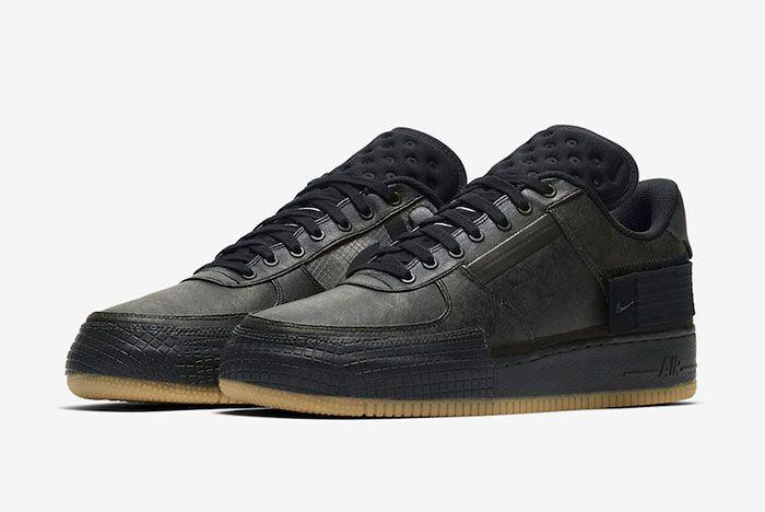 Nike Air Force 1 Black Gum Toe