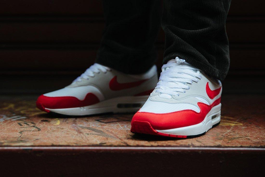 Nike Air Max 1 Anniversary Og Red White 17