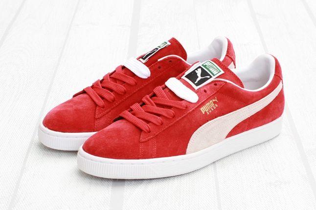 Puma Suede Red White Hero 1