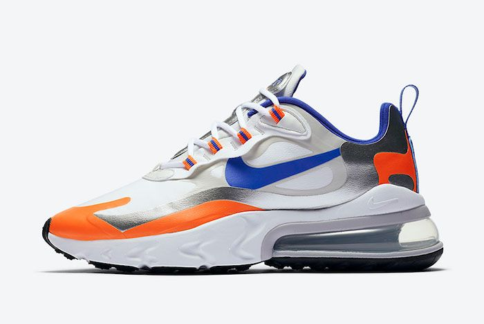 Nike Air Max 270 React Knicks Cw3094 100 Lateral