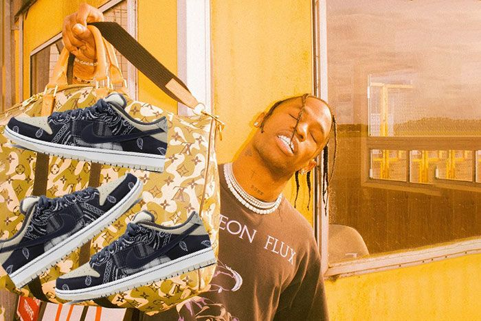 Travis Scott Nike Sb Dunk Stolen Photoshop